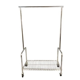 Rolling Rack <br>With Bottom Shelf