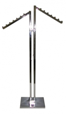 2-Way Double Upright With 2 Square Tube Waterfall Arms