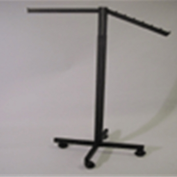 2-Way Rectangular Upright With 1 Straight & 1 Waterfall Arm, X Base, & Casters