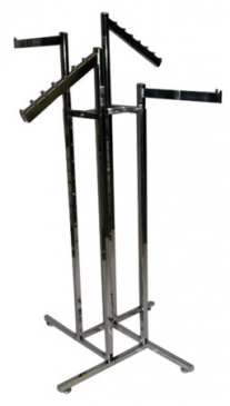 "4-Way Square Tube Rack With 4 Straight 16"" Square Tube Arms"