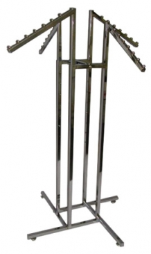 4-Way Square Tube Rack With 4 Waterfall Square Tube Arms