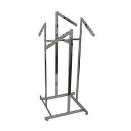4-Way Low Capacity All Rectangular Rack With 4 Rectangular Waterfall Arms