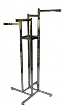 "4-Way All Rectangular Rack With Four Straight 16"" Arms"