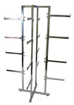 "4-Way Folding Lingerie Rack With 16 -1/2"" x 1"" Rectangular 12"" Arms"
