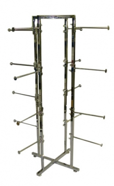 "4-Way Folding Lingerie Rack With 16  Round 12"" Arms"