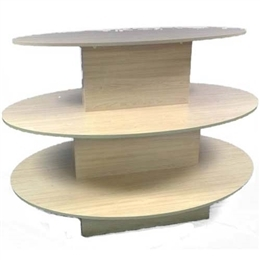 3-Tier oval table