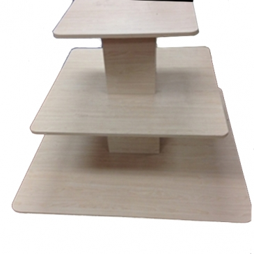 3-Tier square table