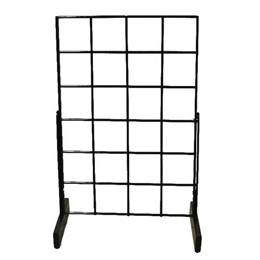 Countertop grid display double wire all edges for horizontal and vertical mounting