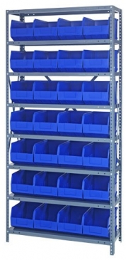 "Stackable Shelf Bin<br>Steel Shelving System, 12""Wide"
