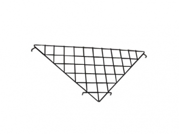 Triangular shelf for grid