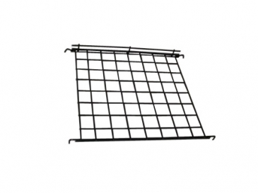 Straight shelf with lip for grid