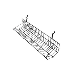 "23-1/2""L CD/DVD Shelf with 5 dividers for grid/slatwall"
