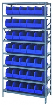 "Stackable Shelf Bin<br>Steel Shelving System, 18""Wide"