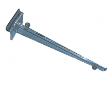 "10"" Polycarb shelf bracket with rubber rest for slatwall"