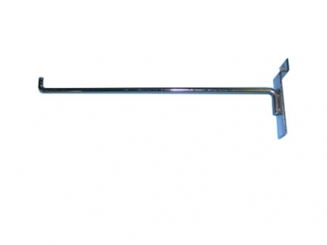 "10"" Hook with 90-degree tip for slatwall"