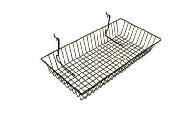 "Basket with 3""front slant for grid/slatwall"