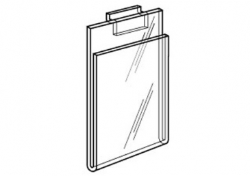 Plexi Cardholder for slatwall Vertical