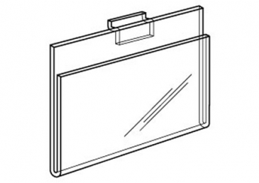 Plexi Cardholder for slatwall horizontal