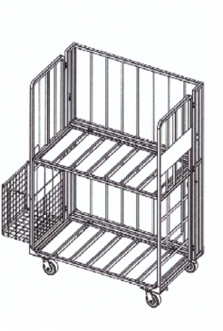 2 Shelf Distribution Cart