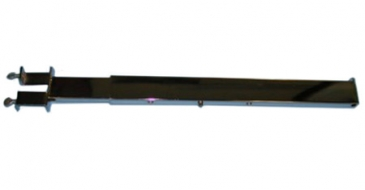 "Rectangular tube telescoping faceout vertical twist on adjusts to 16"", 19"", and 22"""