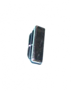 Plastic end cap for rectangular tubing flush top and bottom