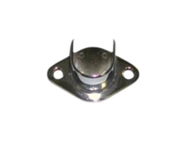 "Flange open for 1"" Diameter round tube wallmount"