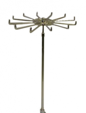 "Revolving tie stand adjustable 18""to 36""fits 5/8""threaded base"