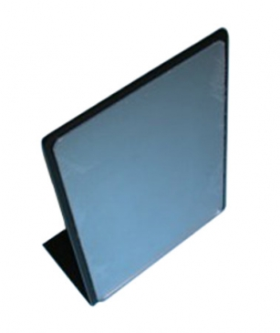 Plexi countertop mirror with Black border vertical