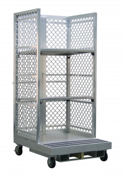 Forklift Order Picking Cart with Two Adjustable Shelves