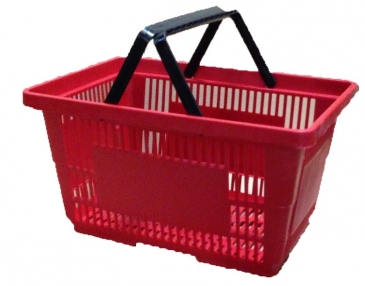Plastic Hand Basket W/ Nylon Handle