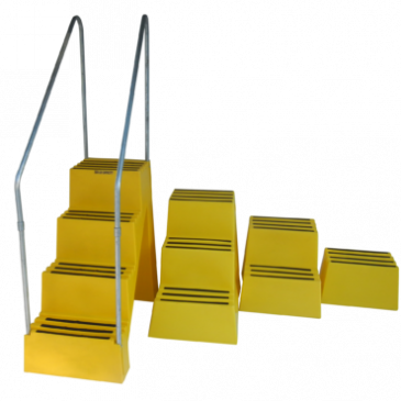 Heavy Duty Plastic Steps With Storage Compartment<br>ST Series