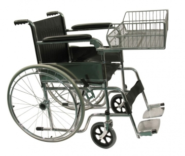 Wheelchair with Shopper Basket