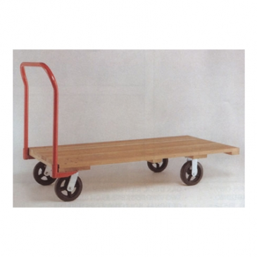 Wood Kiln-Dried Wood Deck Platform Truck