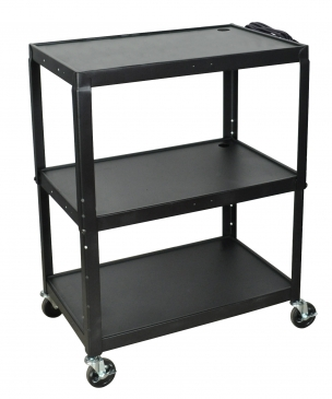 Extra Large Adjustable Height A/V Carts