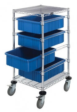 Bin Carts W/ Dividable Grid Containers