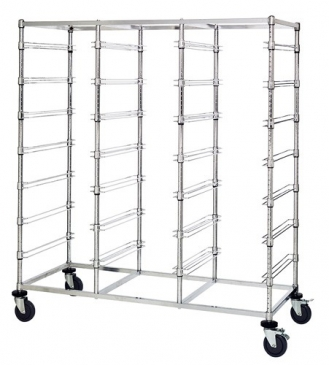 Triple Bay Bin Carts without Dividable Containers
