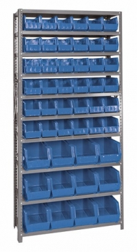 "Giant Open Hopper <br>Steel Shelving System <br>12"" Deep, 10 Shelves"