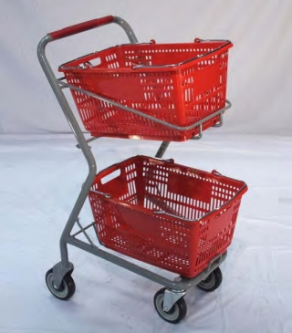 2- Tier Hand Basket Shopping Cart