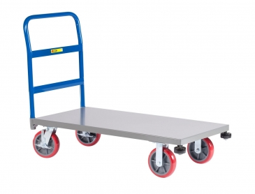 Steel<br>Heavy Duty Platform Trucks with Corner Bumpers