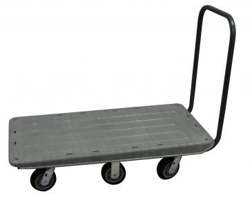 Plastic Flatbed Cart - 6 Wheel