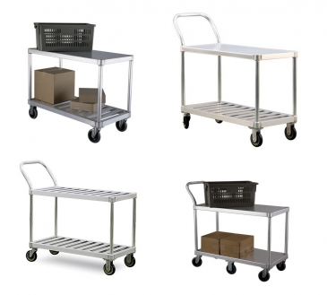 Picking Carts  Aluminum, 2 Shelf