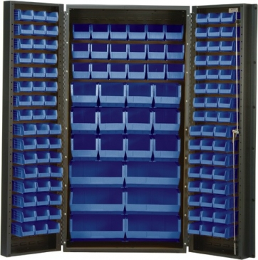 "All Welded Bin Cabinet,<br>36"" Wide, 132 Bins"