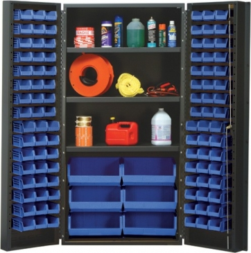 "All Welded Bin Cabinet,<br>36"" Wide, 102 Bins"