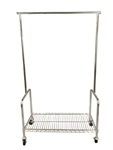 "Rolling Rack With Shelf 36""L"