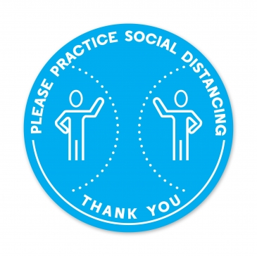 PLEASE PRACTICE SOCIAL DISTANCING - THANK YOU DECAL
