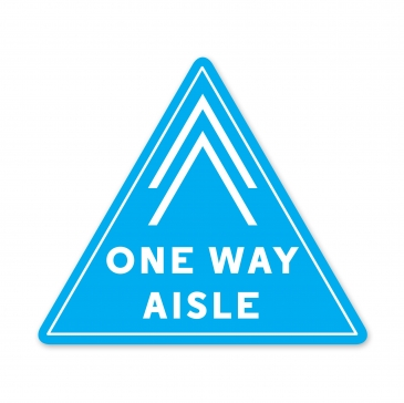 ONE WAY AISLE DECAL