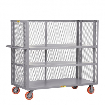 3 Sided Adjustable Mesh Stock Cart