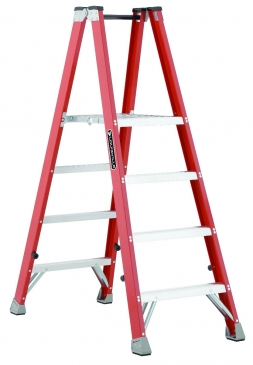Louisville Twin Front Platform Ladder FMP1500 Series 300 LBS