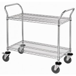 2 Shelf Mobile Utility Carts