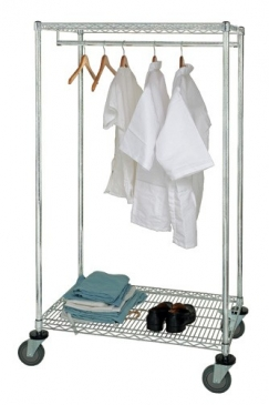 Stationary and Mobile Wire Garment Racks
